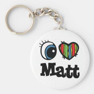 I Heart (Love) Matt Keychain