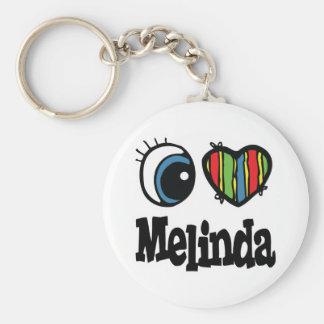 I Heart (Love) Melinda Keychain