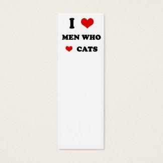 I Heart Love Men Who Love Cats Mini Business Card