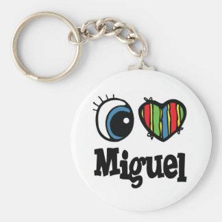 I Heart (Love) Miguel Basic Round Button Keychain
