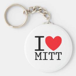 I Heart (Love) Mitt (Romney) Keychain