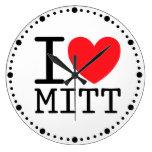 I Heart (Love) Mitt (Romney) Wall Clock