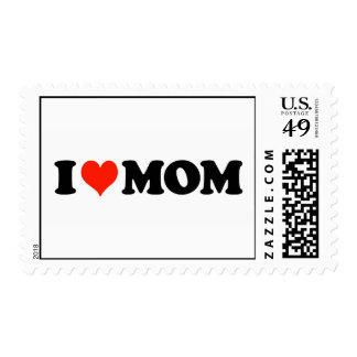 I Heart (Love) Mom Stamp
