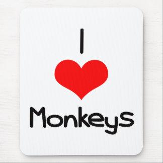 I Heart (Love) Monkeys Mouse Pad