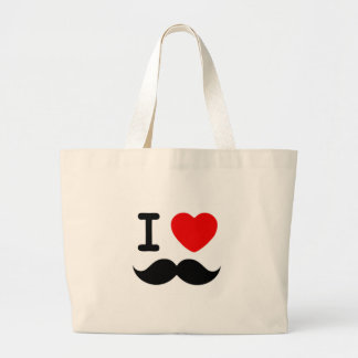 I heart Love Moustaches Mustaches Bags