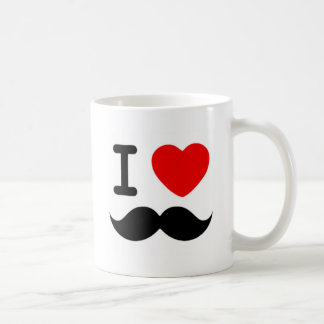 I heart / Love Moustaches / Mustaches Classic White Coffee Mug