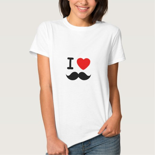 I heart / Love Moustaches / Mustaches T-Shirt