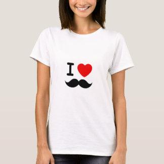 I heart / Love Moustaches / Mustaches T-Shirt