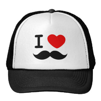I heart / Love Moustaches / Mustaches Trucker Hat