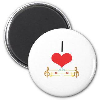 I Heart (Love) Music Notes Magnet
