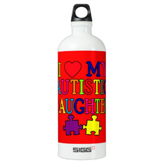 I Heart (Love) My Autistic Daughter SIGG Traveler 1.0L Water Bottle