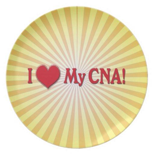 I HEART LOVE MY CNA NURSE PLATES