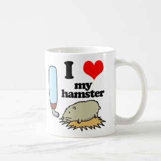 I Heart (Love) My Hamster Coffee Mugs