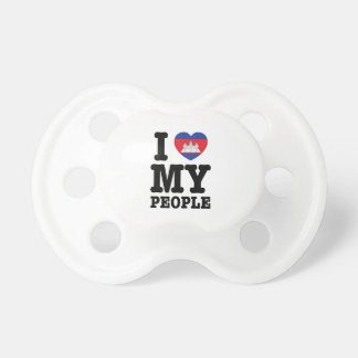 I Heart (Love) My Khmer People Baby Pacifiers