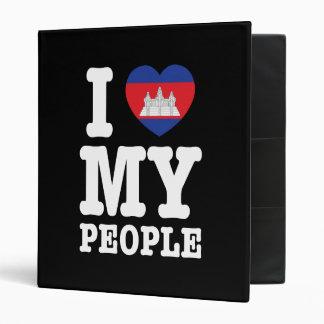 I Heart Love My Khmer People Binder