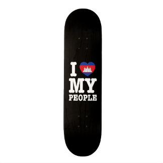 I Heart (Love) My Khmer People Skateboard Deck