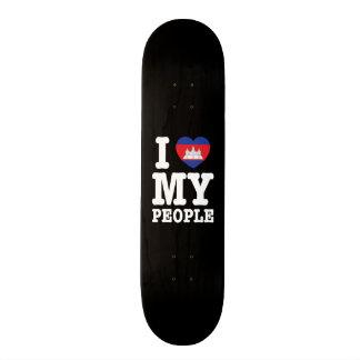 I Heart (Love) My Khmer People Skateboard Deck