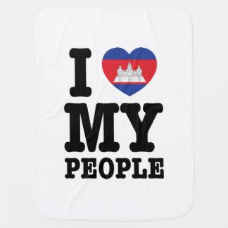 I Heart (Love) My Khmer People Swaddle Blanket