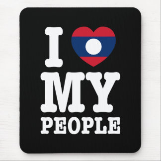 I Heart (Love) My Lao People Mouse Pad