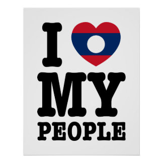 I Heart (Love) My Lao People Poster