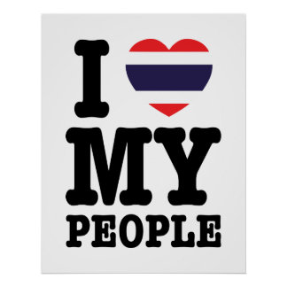 I Heart (Love) My Thai People Poster