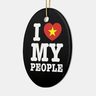 I Heart (Love) My Viet People Ceramic Ornament