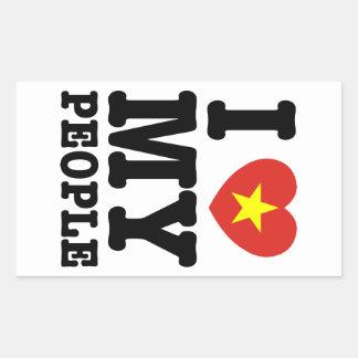 I Heart (Love) My Viet People Rectangular Sticker