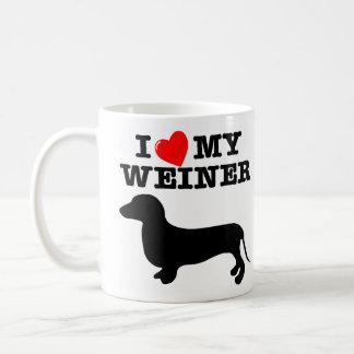 I (Heart) Love My Weiner Dog Coffee Mug