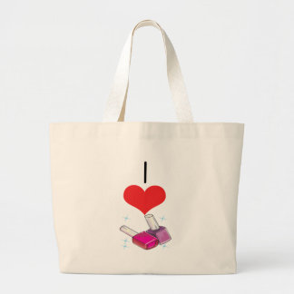 I Heart (Love) Nail Polish  Large Tote Bag