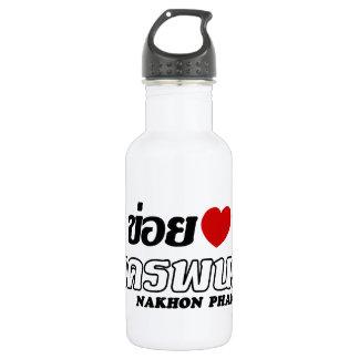 I Heart (Love) Nakhon Phanom, Isan, Thailand Water Bottle