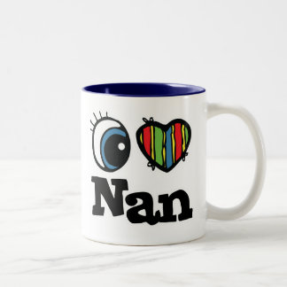 I Heart (Love) Nan Two-Tone Coffee Mug