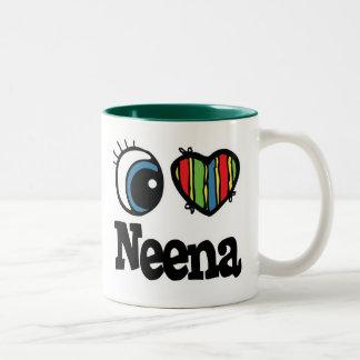 I Heart (Love) Neena Two-Tone Coffee Mug