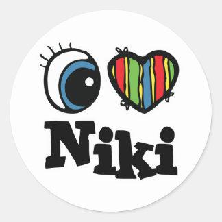 I Heart (Love) Niki Stickers