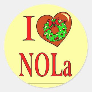 I Heart (Love) NOLA, Classic Round Sticker