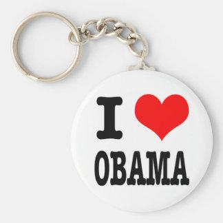 I HEART (LOVE) OBAMA KEYCHAIN