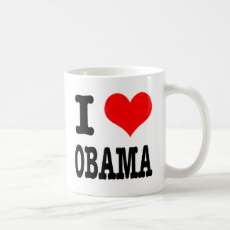 I HEART (LOVE) OBAMA COFFEE MUG