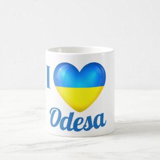 I Heart Love Odesa Ukraine Flag Mug