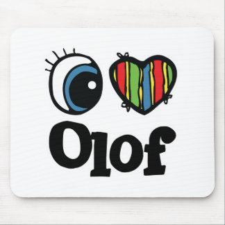 I Heart (Love) Olaf Mouse Pad