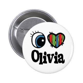 I Heart (Love) Olivia 2 Inch Round Button