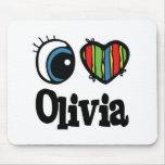 I Heart (Love) Olivia Mouse Pad