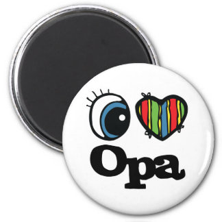 I Heart (Love) Opa 2 Inch Round Magnet