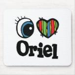 I Heart (Love) Oriel Mouse Pad