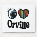 I Heart (Love) Orville Mouse Pad