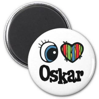 I Heart (Love) Oskar 2 Inch Round Magnet