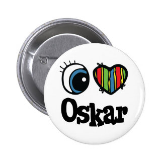 I Heart (Love) Oskar Pinback Button