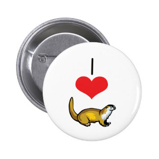 I Heart (Love) Otters Button