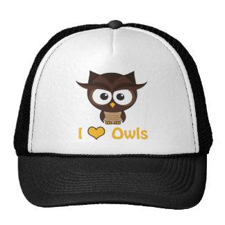 I heart (love) owls trucker hats