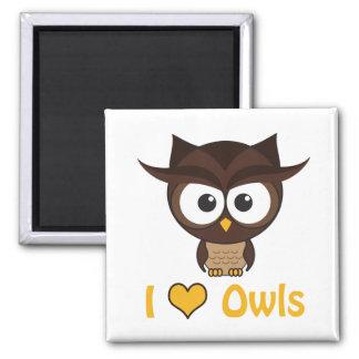 I heart (love) owls magnet