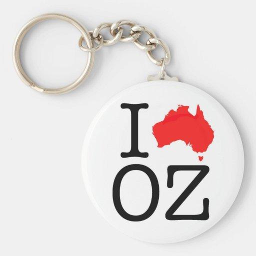 I Heart (Love) Oz Keychain