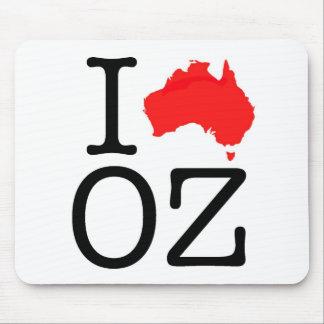 I Heart (Love) Oz Mouse Pad